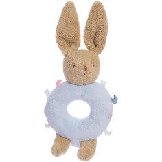 Погремушка-кольцо Зайчик, голубое, 16см , Trousselier