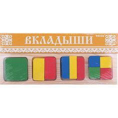 "Рамка-вкладыш ""Геометрия Квадрат"", Томик"
