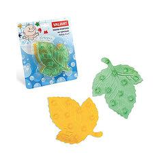 """Мини-коврики для ванной """"Листики"""", 6 шт (желтый и зеленый) Valiant"""