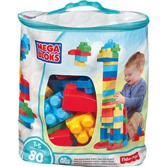 Конструктор 80 деталей First Builders, MEGA BLOKS Mattel