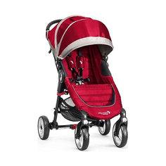 Прогулочная коляска Baby Jogger City Mini Single 4Wheel, красно-серый