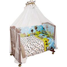 Бортик в кроватку Каникулы Сонный гномик, голубой