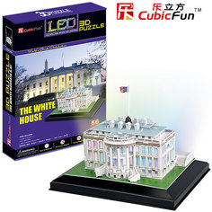 """Пазл 3D """"Белый дом с иллюминацией  (США)"""", CubicFun"""