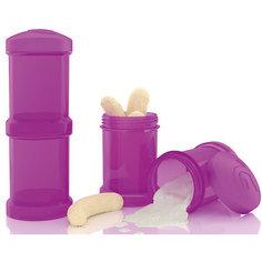 Контейнер для сухой смеси 100 мл. 2 шт., TwistShake, фиолетовый