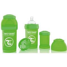 Антиколиковая бутылочка 180 мл., Twistshake, зелёный