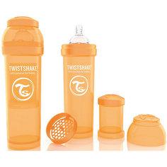 Антиколиковая бутылочка 330 мл., Twistshake, оранжевый