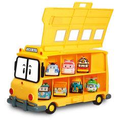 Кейс для хранения машинок Скулби, Робокар Поли Silverlit