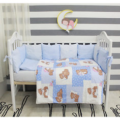 Детское постельное белье 3 предмета By Twinz, Тедди, голубой