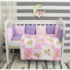 Детское постельное белье 3 предмета By Twinz, Тедди, розовый