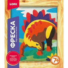 Фреска, Картина из песка Стегозавр Lori