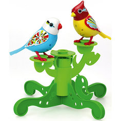 Две птички с деревом, голубая и жёлтая, DigiBirds Silverlit