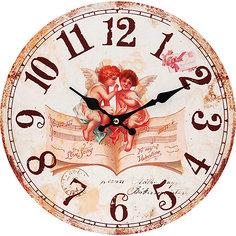 """Часы настенные """"Музыка ангелов"""", диаметр 34 см Белоснежка"""