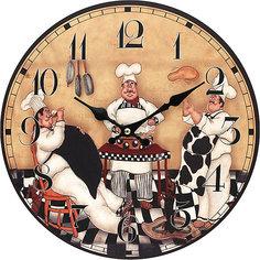"""Часы настенные """"Время печь пироги"""", диаметр 34 см Белоснежка"""