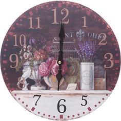 """Часы настенные """"Вечерний Прованс"""", диаметр 34 см Белоснежка"""