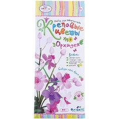 """Креповые цветы своими руками """"Орхидея"""" 3 цвета. Чудо творчество"""