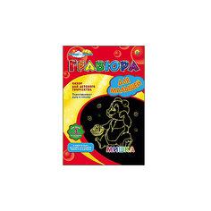 """Гравюра для малышей А4 в конверте """"Мишка"""" (золото) Рыжий кот"""