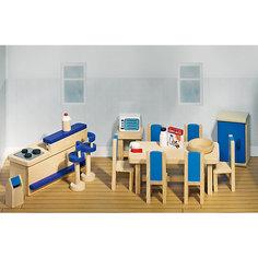 Мебель для кукольной кухни modern синяя, goki