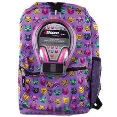 "Рюкзак ""Cats"" с наушниками, цвет сиреневый Mojo PAX"