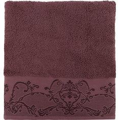 Полотенце махровое 70*140 Лукреция, Cozy Home, шоколад