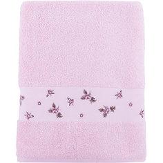 Полотенце махровое 70*140 Розали, Cozy Home, розовый