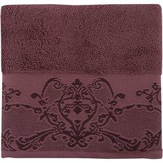Полотенце махровое 50*90 Лукреция, Cozy Home, шоколадный