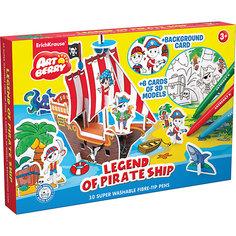 """Игровой 3D-пазл для раскрашивания """"Легенда о пиратском корабле"""", Artberry Erich Krause"""