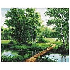 """Картина мозаикой """"Мостик в лесу"""", 40*50 см Molly"""