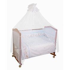 Бортик в кроватку Оленята Сонный гномик, голубой