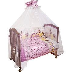 Бортик в кроватку Золушка Сонный гномик, розовый