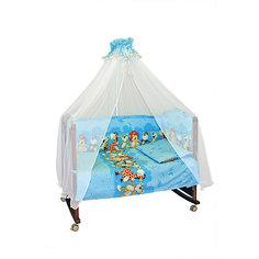 Детское постельное белье 3 предмета Сонный гномик, Африка, голубой
