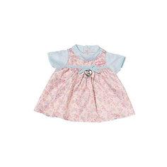 Платье для куклы, розово-голубое, Baby Annabell Zapf Creation