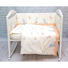 Детское постельное белье 3 предмета Baby Nice, Зайка, бежевый