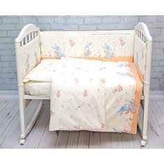 Бортик в кроватку элит, Зайка Baby Nice, бежевый