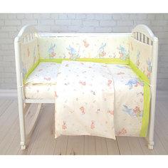 Комплект в кроватку 6 пред., Зайка Baby Nice, салатовый