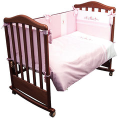 Детское постельное белье 3 предмета Сонный гномик, Прованс, розовый