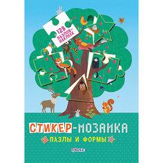 """Книга с наклейками """"Стикер-мозаика: Пазлы и формы"""" Робинс"""
