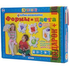 Кубик-развивайка: Формы и цвета Робинс