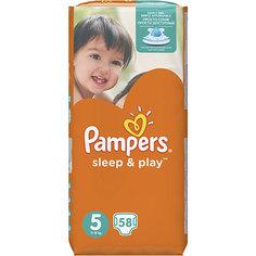 Подгузники Pampers Sleep & Play Junior, 11-18 кг, 5 размер, Jumbo pack, 58 шт., Pampers