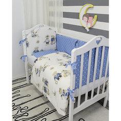 Детское постельное белье 3 предмета By Twinz, Мишки-морячки, коричневый