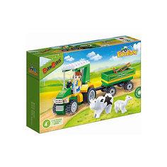 Конструктор Фермерский трактор, 115 дет., BanBao