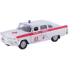 """Машинка """"ГАЗ-13 """"Чайка"""" скорая помощь 1:43, Autotime"""