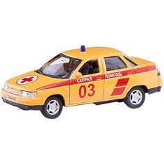 """Машинка """"Lada 110"""" скорая помощь 1:36, Autotime"""