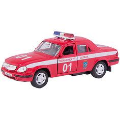 """Машинка """"ГАЗ-31105 """"Волга"""" пожарная охрана 1:43, Autotime"""