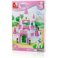 """Конструктор """"Розовая мечта: Спасение принцессы"""", 508 деталей, Sluban"""