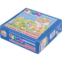 """Кубики """" Арифметика. Цыплят в 3 года мы считаем"""", 9 элементов, Десятое королевство"""