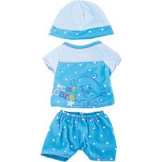 """Одежда для кукол """"Пижама в наборе с шапочкой"""" Shantou Gepai"""