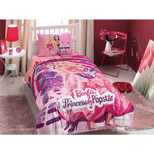 """Детское постельное белье 1,5 сп. TAC, """"Barbie"""" Princess Popstar"""