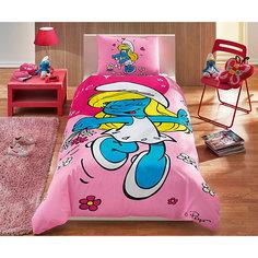 """Детское постельное белье 1,5 сп. TAC, """"Smurfs"""" Sirine"""