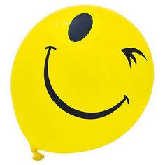 """Воздушные шары """"Смайлы"""", одноцветный рисунок, 30см, 20 шт Action!"""