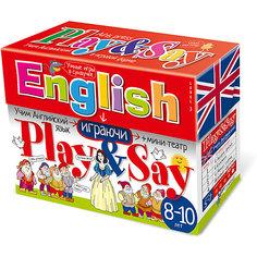 """Учим английский язык """"Play&Say"""", уровень 3, красный АЙРИС пресс"""